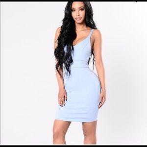 43ce3b49e7 ... swimsuit Floral Romper Blue Fashion Nova Dress- NWOT ...
